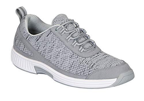 Orthofeet Proven Heel and Foot Pain Relief. Extended Widths. Best Orthopedic Walking Shoes Plantar Fasciitis Diabetic Men's Sneakers Lava Grey