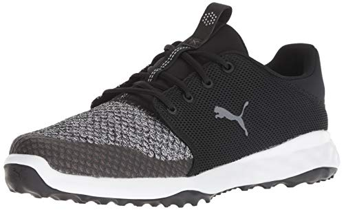 Puma Golf Men's Grip Fusion Sport Golf Shoe, Puma Black-Quiet Shade, 13 M US