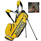 2017 Sun Mountain Golf Bag, H2NO Lite Stand Bag, Grey/Yellow/Black, Comes with 1 Golf Tower Ring