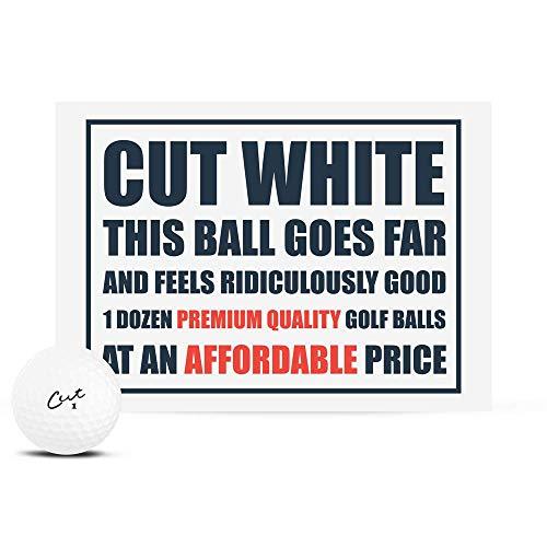 Cut Golf Matte White Golf Balls (1 Dozen)