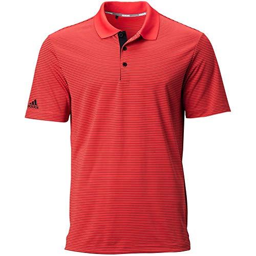 adidas Golf Ultimate365 Polo Shirt, Real Coral/Black, Small
