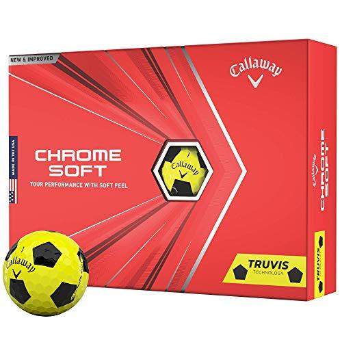 2020 Callaway Chrome Soft Golf Balls (Truvis Yellow/Black)