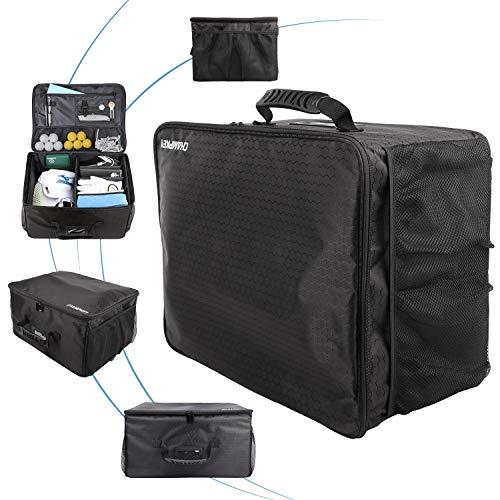 Champkey Golf Trunk Organizer Storage-Portable and Foldable Golf Travel Storage Locker Ideal for Travel Golf and Car Golf (Black)