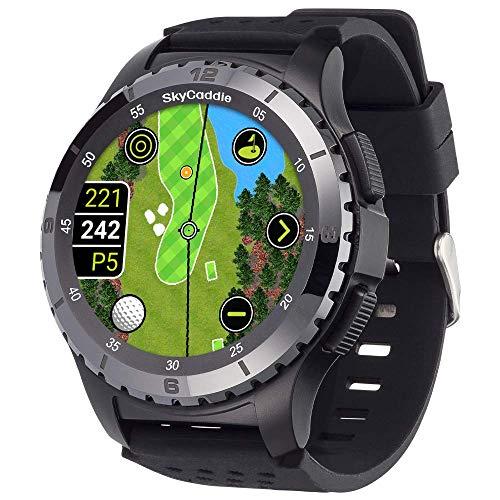 SkyCaddie LX5C Golf GPS Watch with Ceramic Bezel, Black