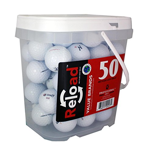 Reload Recycled Golf Balls 50 Ball Bucket, White, One Size