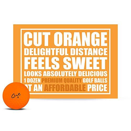 Cut Golf Balls, Orange Matte Colored (One Dozen)