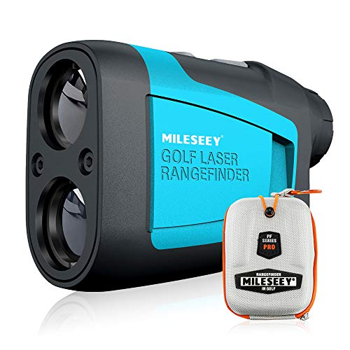 MiLESEEY Professional Laser Golf Rangefinder 660 Yards with Slope Compensation,±0.55yard Accuracy,Fast Flagpole Lock,6X Magnification,Distance/Angle/Speed Measurement for Golf,Hunting