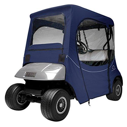 Classic Accessories Fairway Golf Cart FadeSafe Enclosure For E-Z-Go, Short Roof, Navy