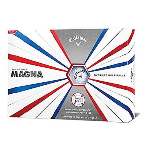 Callaway Golf Supersoft Magna Golf Balls, (One Dozen), White, Prior Generation