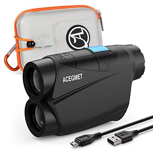 ACEGMET Golf Rangefinder, USB Charging Range Finder Golfing, 650 Yards Golf Range Finder, Flag Lock and Pulse Vibration Laser Rangefinders, Fast Focus and Continuous Scan Golf Rangefinder with Slope