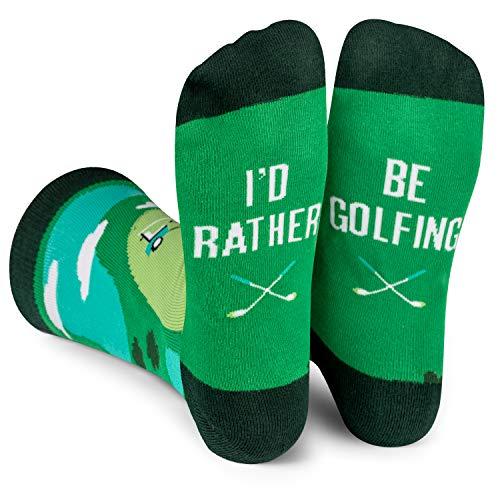 I'd Rather Be - Funny Novelty Socks Stocking Stuffer Gift For Men and Women (Golf)