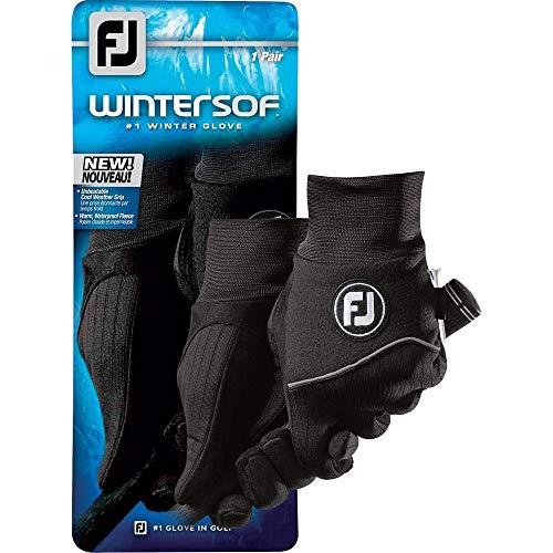 FootJoy WinterSof Golf Gloves (1 Pair) (Black, ML)