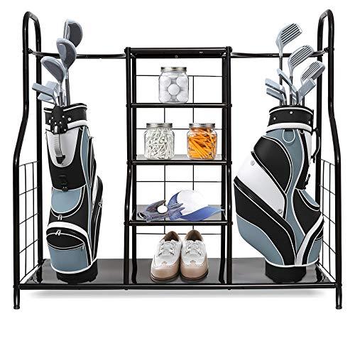 Morvat Golf Organizer Golf Storage - Garage Organizer for Golf Gadgets Extra Large Size, Golf Bag & Golf Accessories - Perfect Way to Store & Organize Your Golf Equipment, Clubs & Golf Travel Bag