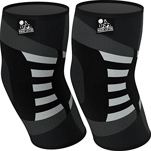 Elbow Compression Sleeves (1 Pair) - Support for Tendonitis Prevention & Recovery (Medium)