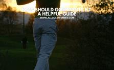 How Should Golf Pants Fit